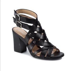 NWT Andrew Geller Bobbi Women's Black Sandal